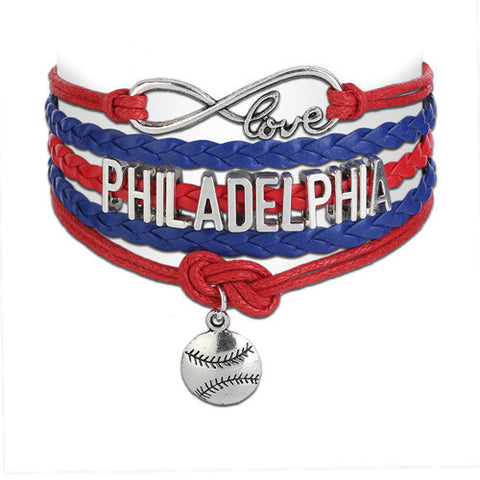 Philadelphia Phillies Love Infinity Bracelet