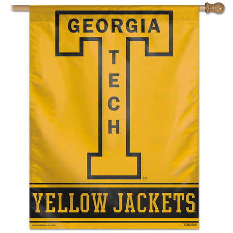 "Georgia Tech /College Vault 27"" x 37"" Vertical Banner Flag"