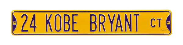 Kobe Bryant CT Street Sign