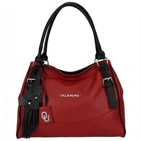 "Oklahoma Sooners ""Jet Set"" Purse With Dangle Flowers"