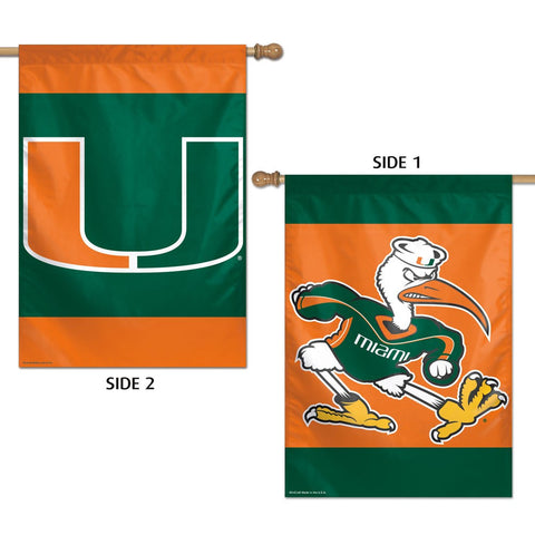 "Miami (Florida), University of 28"" x 40"" Two-Sided Vertical Banner Flag"