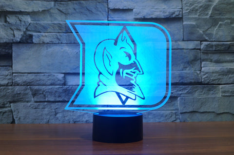 "Duke Blue Devils ""Logo"" - 3D LED Lamp/Night Light"