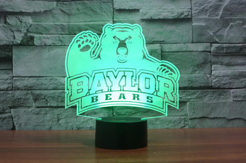 "Baylor Bears ""Logo"" - 3D LED Lamp/Night Light"