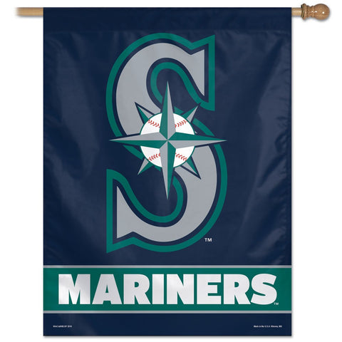 "Seattle Mariners  27"" x 37"" Vertical Banner Flag"