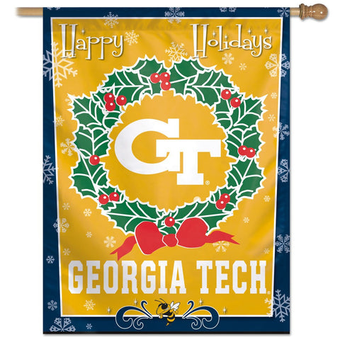 "Georgia Tech 27"" x 37"" Vertical Banner Flag"