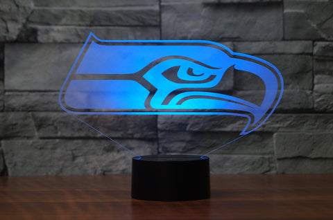 "Seattle Seahawks ""Logo"" - 3D LED Lamp/Night Light"