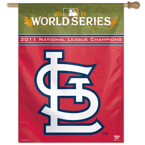 "National League Champions 27"" x 37"" Vertical Banner Flag"