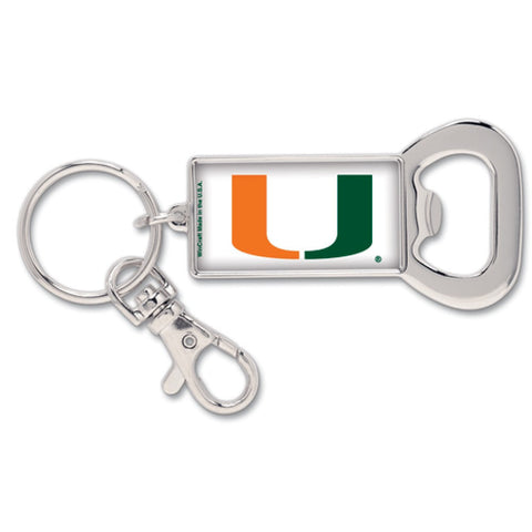 Miami (Florida), University of Silvertone Bottle Opener Keychain