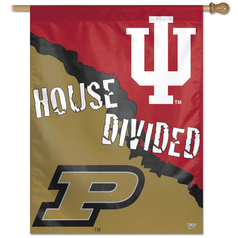 "Indiana University & Purdue University ""House Divided"" 27"" x 37"" Vertical Banner Flag"