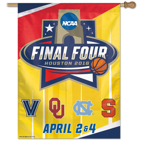 "Final Four 4 Team Names MENS FINAL FOUR 27"" x 37"" Vertical Banner Flag"