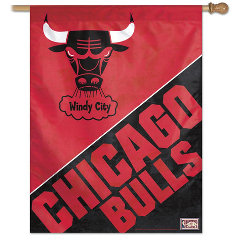 "Chicago Bulls / Hardwoods 27"" x 37"" Vertical Banner Flag"