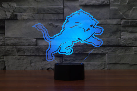 "Detroit Lions ""Logo"" - 3D LED Lamp/Night Light"