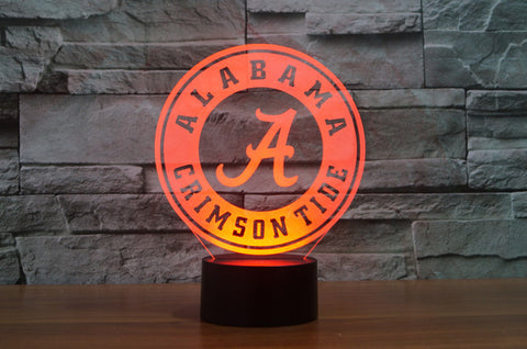"Alabama Crimson Tide ""Logo"" - 3D LED Lamp/Night Light"