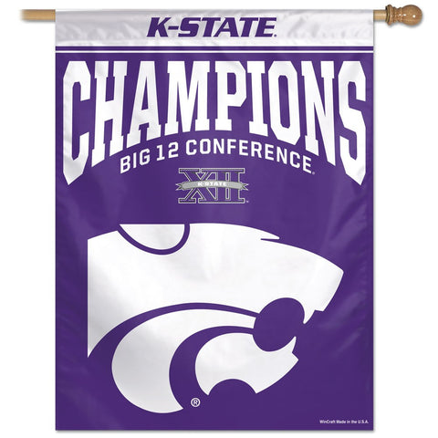 "Big 12 Football Champions 27"" x 37"" Vertical Banner Flag"