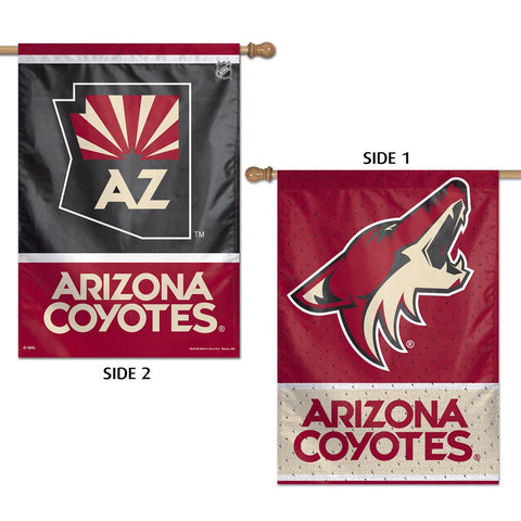 "Arizona Coyotes 28"" x 40"" Two-Sided Vertical Banner Flag"