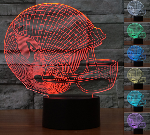 "Arizona Cardinals ""Helmet"" - 3D LED Lamp/Night Light"