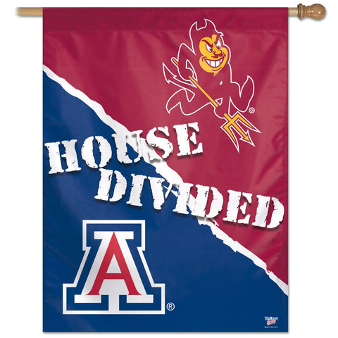 "Arizona, University of &   Arizona State University ""House Divided"" Deluxe 3' x 5' Flag"