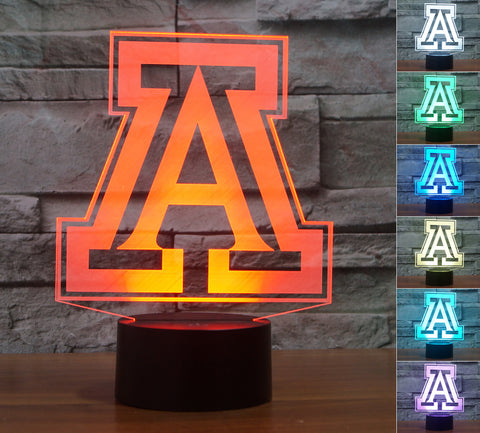 "Arizona Wildcats ""Logo"" - 3D LED Lamp/Night Light"