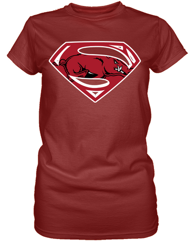 Arkansas Razorbacks Superman