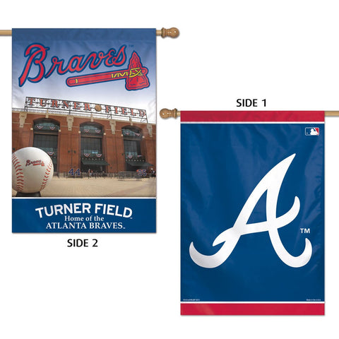 "Atlanta Braves 28"" x 40"" Two-Sided Vertical Banner Flag"