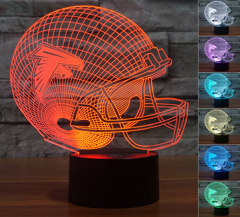 "Atlanta Falcons ""Helmet"" - 3D LED Lamp/Night Light"