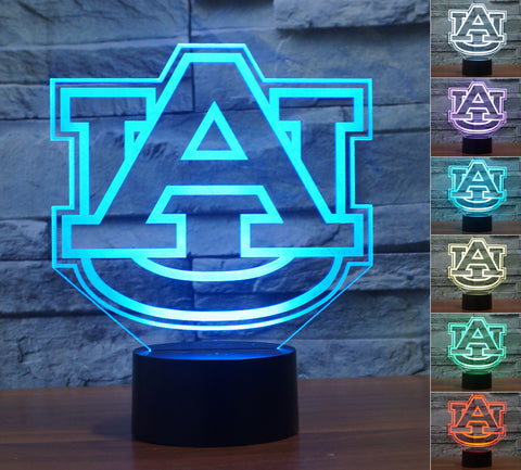 "Auburn Tigers ""Logo"" - 3D LED Lamp/Night Light"