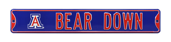 Arizona Wildcats Bear Down Sign