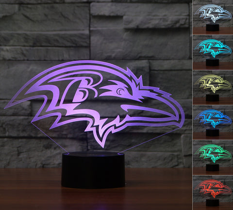 "Baltimore Ravens ""Logo"" - 3D LED Lamp/Night Light"
