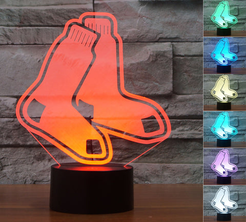 "Boston Red Sox ""Logo"" - 3D LED Lamp/Night Light"