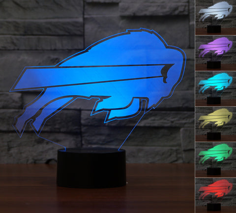 "Buffalo Bills ""Logo"" - 3D LED Lamp/Night Light"