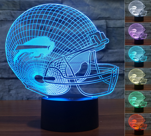 "Buffalo Bills ""Helmet"" - 3D LED Lamp/Night Light"