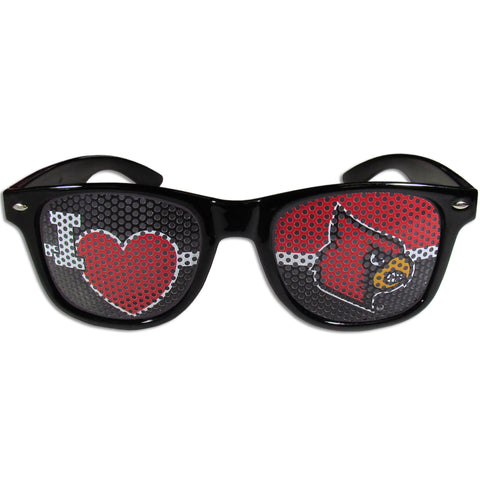 Louisville Cardinal I Heart Game Day Sunglasses