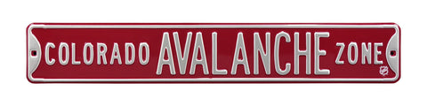 Colorado Avalance Zone Street Sign