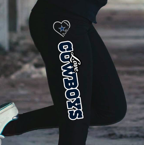 Love Dallas Cowboys Cotton Leggings
