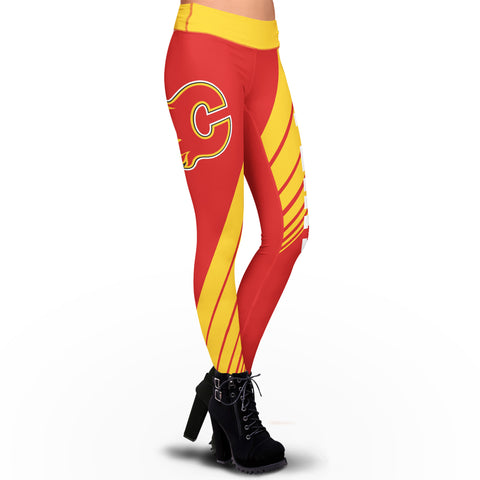 Calgary Flames Dynamic Sublimation Leggings