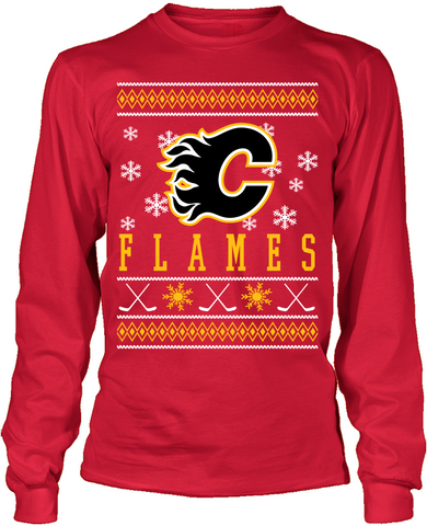 Calgary Flames Holiday Sweater