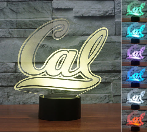 "California Golden Bears ""Logo"" - 3D LED Lamp/Night Light"