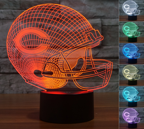"Chicago Bears ""Helmet"" - 3D LED Lamp/Night Light"