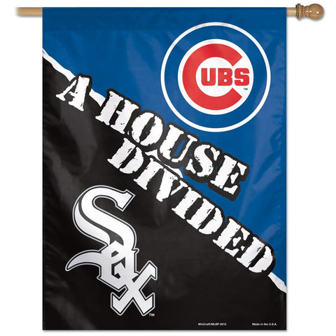 "Chicago Cubs & Chicago White Sox ""House Divided"" Deluxe 3' x 5' Flag"
