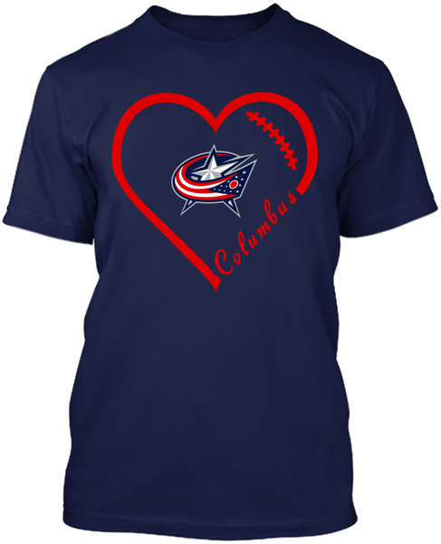 Columbus Blue Jackets Heart
