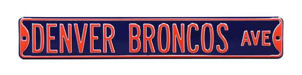 Denver Broncos Ave Sign