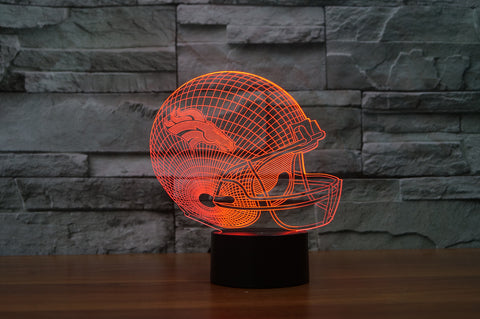 "Denver Broncos ""Helmet"" - 3D LED Lamp/Night Light"