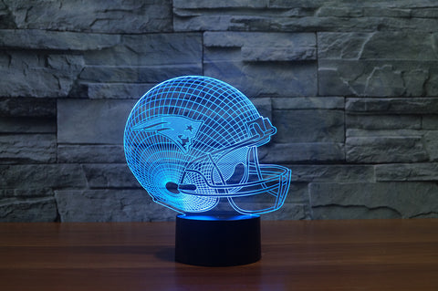 "New England Patriots ""Helmet"" - 3D LED Lamp/Night Light"