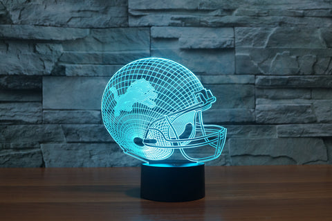 "Detroit Lions ""Helmet"" - 3D LED Lamp/Night Light"