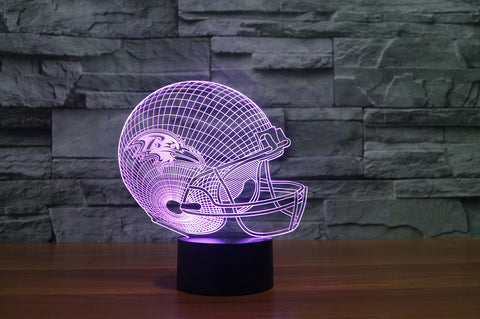 "Baltimore Ravens ""Helmet"" - 3D LED Lamp/Night Light"