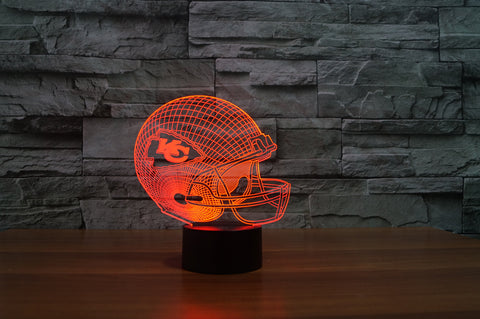 "Kansas City Chiefs ""Helmet"" - 3D LED Lamp/Night Light"