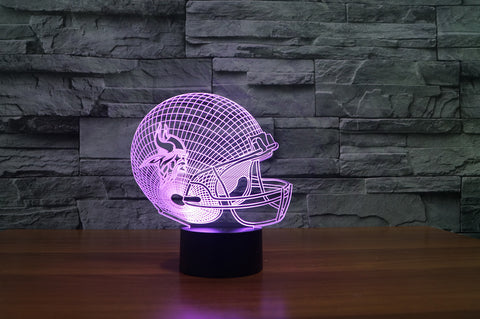 "Minnesota Vikings ""Helmet"" - 3D LED Lamp/Night Light"