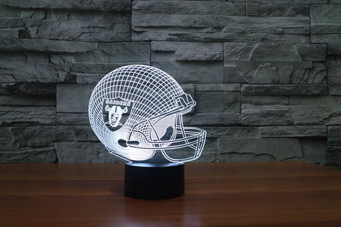 "Oakland Raiders ""Helmet"" - 3D LED Lamp/Night Light"