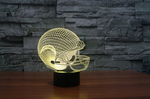 "San Diego Chargers ""Helmet"" - 3D LED Lamp/Night Light"