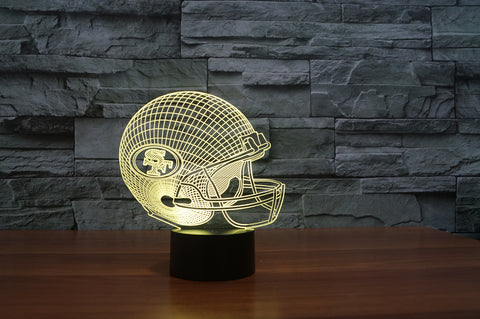 "San Francisco 49ers ""Helmet"" - 3D LED Lamp/Night Light"